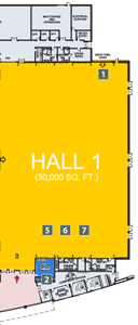EY Centre Floor Plan Hall 1