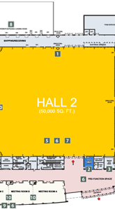 EY Centre Floor Plan Hall 2