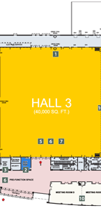 EY Centre Floor Plan Hall 3