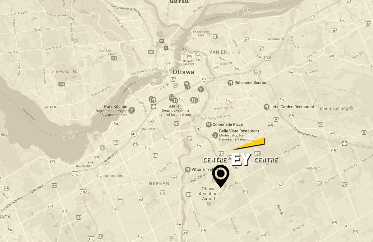 EY Centre Restaurant Map